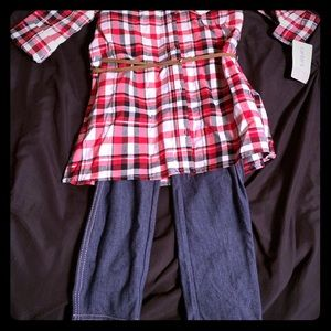 Carter's size 5 outfit. Plaid shirt and jeans